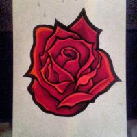 Rose (Pro Markers). by C-Gray