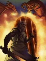 Beowulf and the Dragon by DaMaupin