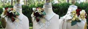 Bridal Floral Neck Corset by ElectraDesigns