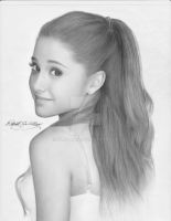 Ariana Grande pencil portrait by RMoy-Art
