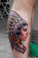 indian girl by tattooneos