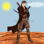 The Gunslinger -With Gun and Sword- by AlchemistMayCry