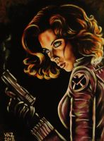 Black Widow Painting by VanZanto