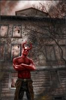 Face your monster : Hellboy by Victor-Lam-art