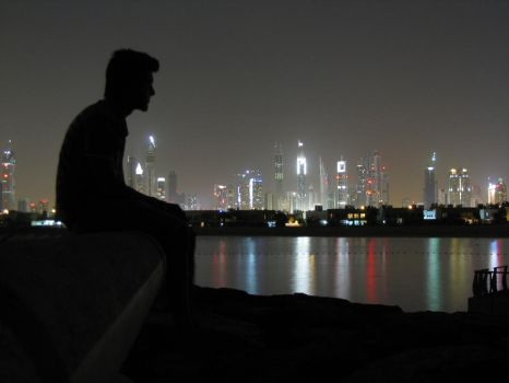 A Silhouette and the Skyline by MARX77