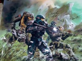 "Bungie signed ""Noble Team"" by Justinian84"