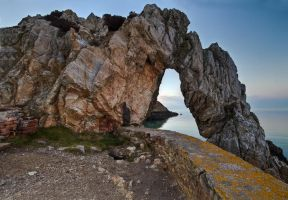 Arch at Porth Wen by CharmingPhotography