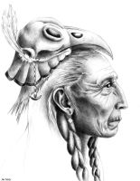 Shaman - pencil by DeviousMazes