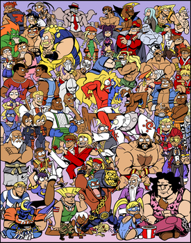 all them street fighters by captainosaka