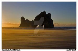 Sunset at Whaririki Beach by carterr