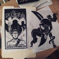 WIP - 'Dicktropolis' and Sky Pirate Shirts by Jackie-M-Illustrator