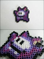 Super Mario 2 Ninji bead sprite by 8bitcraft
