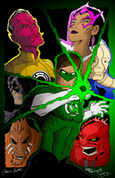 Green Lantern Blackest Night by jdd19and99