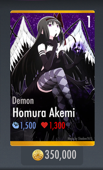 Demon Homura Akemi - Injustice Mobile Custom Card by FantasyEmblem