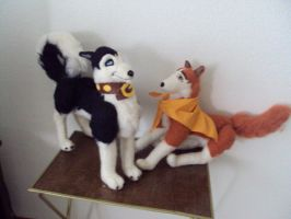 steel and jenna  balto dogs by Phoenixwingcreations
