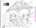 Kuroh and Shiro - Chibi version by Kaori-Lawliet