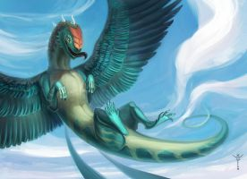 Turquoise lizard by WolfsECHO