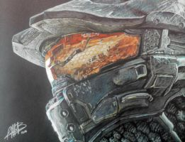 Master Chief by AndresBellorin-ART