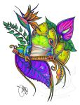 Tattoo Design : Tropical Little Friend by Mareve-Design