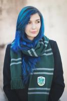Blue Slytheryn by CarlaGolbat