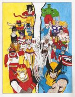 Japan Heroes and Marvel by lurdpabl