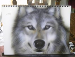 -DOG OR WOLF?- Airbrush by KisaMake