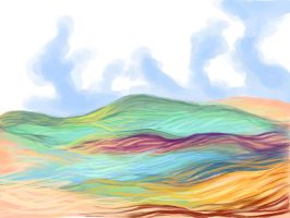 hills in colors by Eilesselas