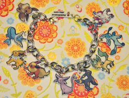 Updated Eevee Evolution Charm Bracelet Pokemon by kouweechi