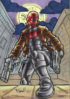 Red Hood ATC by ibroussardart