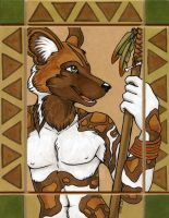 African Wild Dog Totem by XianJaguar