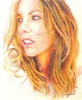 Kate Beckinsale Portrait II by reesmeister