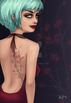 The Girl With The Cherry Blossom Tattoo by Kimmmi