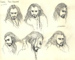 Thorin Oakenshield - Face study by vixenkiba