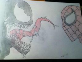 venom vs spiderman by saruwatari17