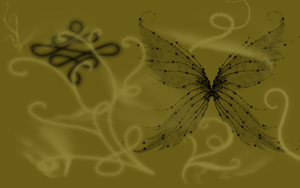 Butterfly Desktop Background by BrennaWerewolf