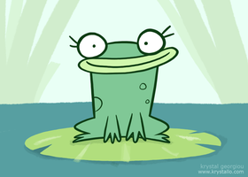 Lily the frog by nef