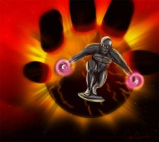 Silver Surfer - Battle Artist by TheCobraCommander