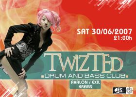 Twizted Drum and Bass Flyer by I-AM-KALU