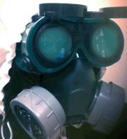 Sniper: Goggles and Gas Mask by Shinigami-Picola