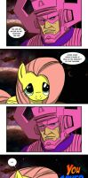 Fluttershy Saves the Earth by PumaDriftCat