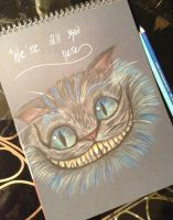 Cheshire Cat Drawing by Realise-RealEyess