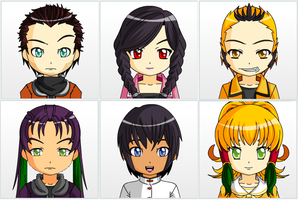 Transformers OCs - Anime Faces (Humanized) by TheWhovianHalfling