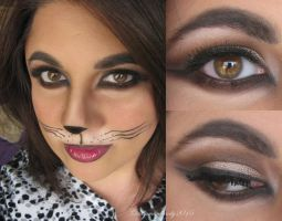 Halloween Makeup - Here kitty, kitty, kitty... by Cinnamoncandy