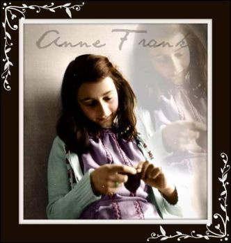 Calm and Serene Anne Frank by Livadialilacs