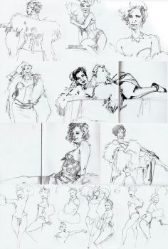 more Dr. Sketchy by ChristianNauck