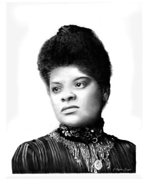 Ida B. Wells Portriat in BIC Pen by J-Stephen-Gazsi