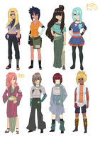 Naruto Adoptable Set: #37 2 LEFT by pepper-adopts