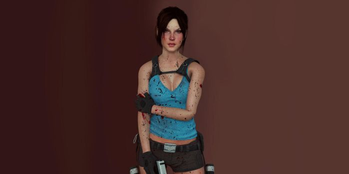 Lara Croft A.T.T.O.O Wallpaper by Rockeeterl