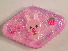 Resin Jewelry Pink Bunny by TeapotTempestis