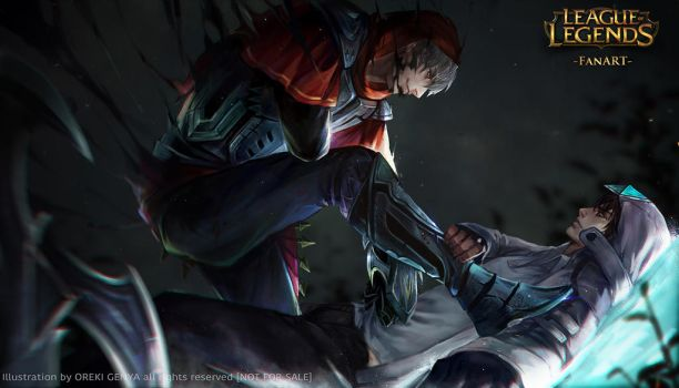 -LOL- ZED and TALON FanArt commission by OrekiGenya